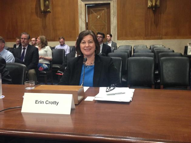 Erin Crotty Testifies Before Senate on Long Island Sound Bill